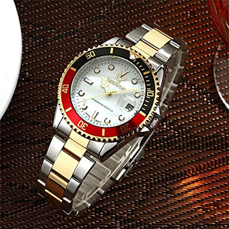 細心のお茶極貧防水腕時計メンズ高級ブランドカジュアルステンレススチールスポーツ腕時計クォーツ腕時計メンズ腕時計 (N)