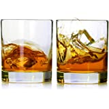 Whiskey Glasses,Set of 2,11 oz,Premium Scotch Glasses,Bourbon Glasses for Cocktails,Rock Style Old Fashioned Drinking Glasswa