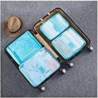 6pcs Travel Organiser Bag Clothes Underwear Pouch Suitcase Luggage Storage Case