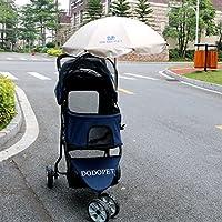 Nataly Osmann ペットカートに使用傘 ペット用傘 猫犬散歩用傘 日焼け止めパラソル 雨傘  (ベージュ)
