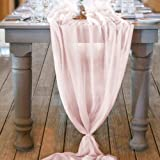Mixsuperstore Chiffon Table Runner 29x120 Inches Romantic Wedding Runner Sheer Bridal Party Decorations, Polyester & Polyeste
