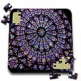フローレンアーキテクチャ–ノートルダム大聖堂ステンドグラス–10x 10インチパズル( P。_ 50227_ 2)