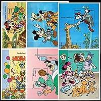 「ミッキーたちのお仕事体験」の切手 ガイアナ1995年小型シート6種完 動物園・医者・政治家
