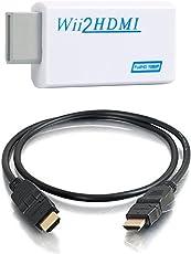 Parishop ★最新版★ Wii to HDMI Adapter WiiをHDMIコンバーター Wiiシグナルを720p 1080pに変換 (1.5M ハイスピードHDMIケーブル付属)