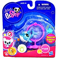Hasbro Year 2010 Littlest Pet Shop Special Edition Pet Series Pet Figure #1603 - Porpoise Dolphin with Little Fish and Jump Hoop (94423) by Hasbro [並行輸入品]