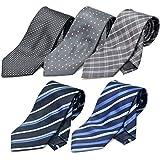 (オルダニ) Oldani ネクタイ 5本セット 眼鏡拭き付