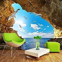Xbwy カスタム壁画壁紙用壁3D立体シースケープ写真壁紙用リビングルームベッドルームテレビソファ背景壁カバー-280X200Cm