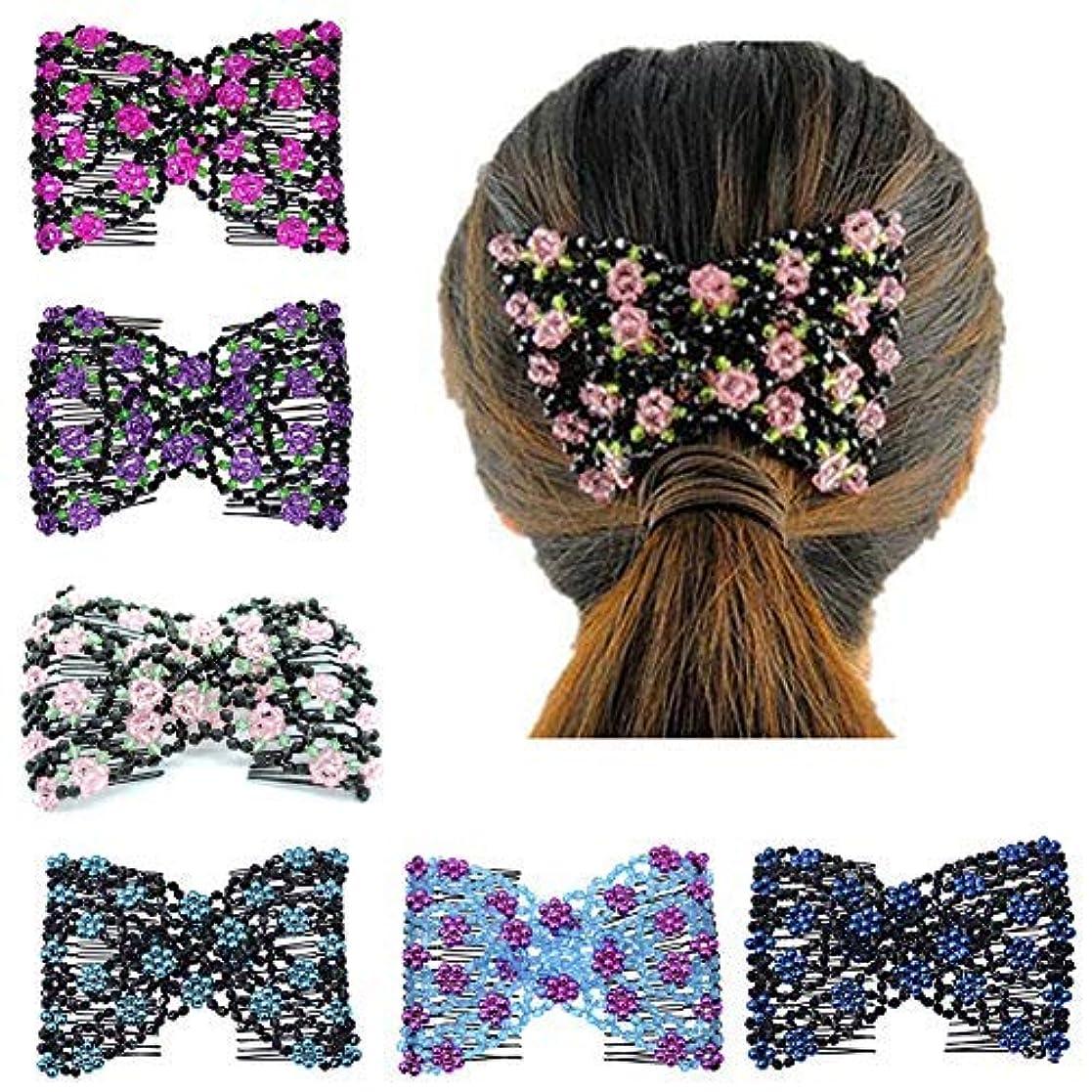 メイド五薬理学Casualfashion Magic Ez Combs Double Stretching Combs, Thick and Thin Hair, Hair Accessory for Popular Hairstyles...
