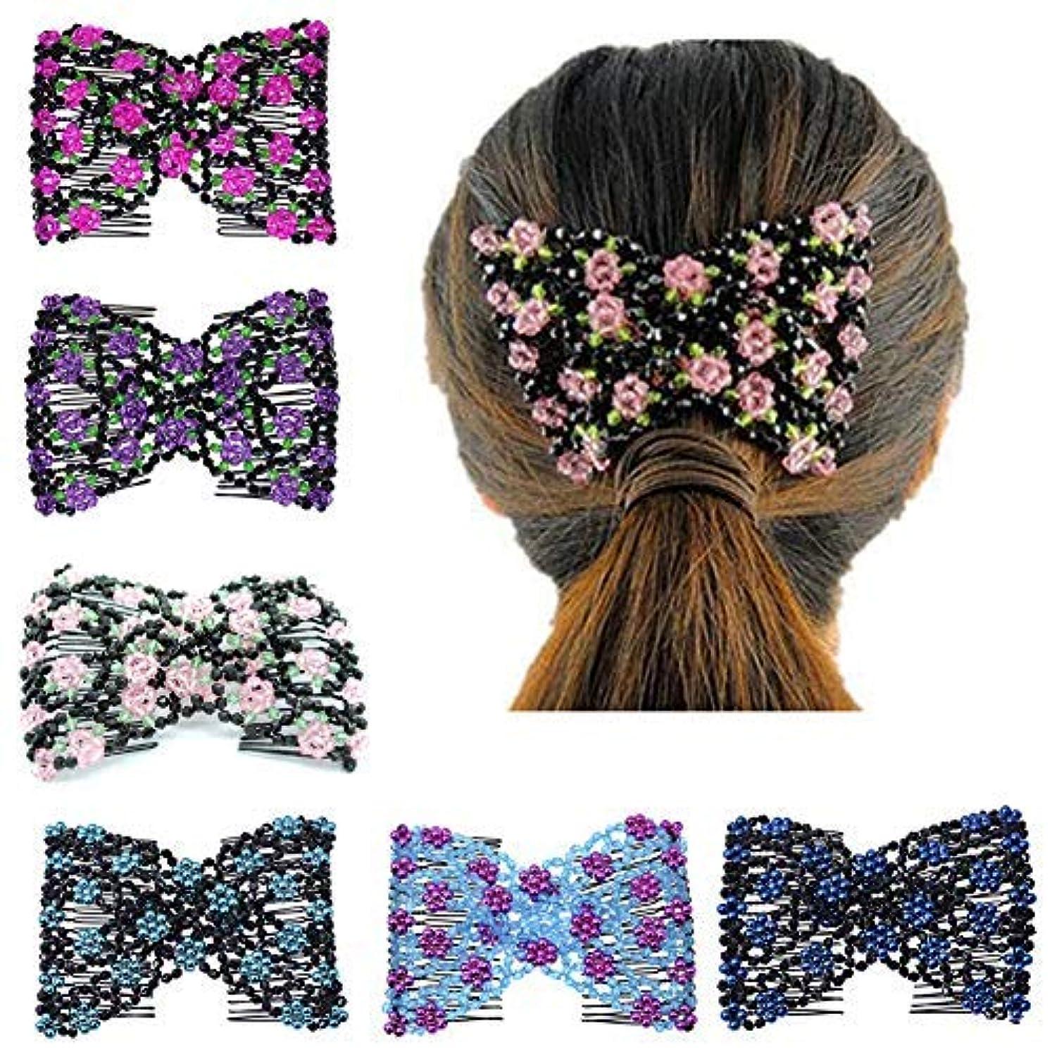 シリーズ確立それに応じてCasualfashion Magic Ez Combs Double Stretching Combs, Thick and Thin Hair, Hair Accessory for Popular Hairstyles...