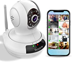 SereneLife Indoor Wireless Security IP Camera - HD 720p Home WiFi Nanny Monitoring - Electronic Motorized PTZ Pan Tilt...