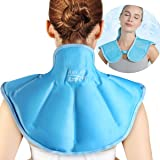 Relief Expert Large Neck Shoulder Ice Pack for Injuries Reusable Gel Cold Pack Wrap for Upper Back Pain Relief Cold Compress