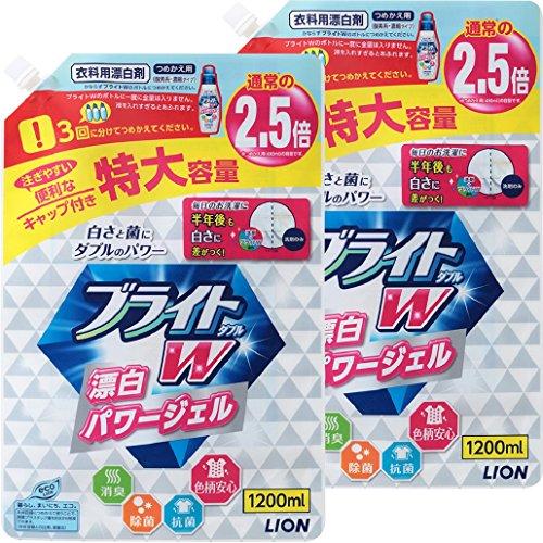 ブライトW 衣類用漂白剤 詰め替え 1200ml×2個