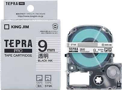 キングジム テープカートリッジ テプラPRO 9mm ST9K 透明
