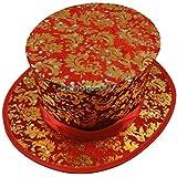 折りたたみトップハット - 葉 - 赤 Folding Top Hat - Foliage - Red -- マジックアクセサリー