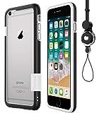 [WOEXET] iPhone 6/iphone 6s用バンパーとストラップセット ストラップ付きケース カラビナ 落下…