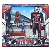 Captain America Civil War Miniverse Captain America, Giant Man, Black Panther & Iron Man Exclusive Action Figure 4-Pack