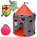 Kiddey Knight's Castle Kids Play Tent -Indoor & Outdoor Children's Playhouse -- Durable & Portable with Free Carrying Bag - B