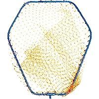 太パイプ径10mm 網 玉枠セット 68×59cm ランディングネット ブルー LLサイズ アルミフレーム