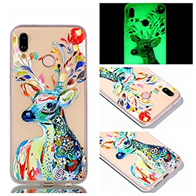 Huawei P20 Lite Case, Luminous Noctilucent Glow in The Dark Case Matching Design Protective Phone Back Cover TPU Shell Case for Huawei P20 Lite/Nova 3e