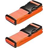 GOSHOPPING スーツケースベルト 荷崩れ防止 調整可能 梱包バンド 反射 丈夫で長持ち 多用途 固定ベルト 固定バンド 地震対策グッズ 2本セット