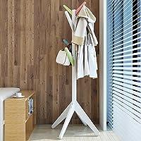 リビングルームコートラック着陸ソリッドウッドの創造性現代的なシンプルなベッドルームハンガーコートラック衣服棚 (色 : Multi-color)