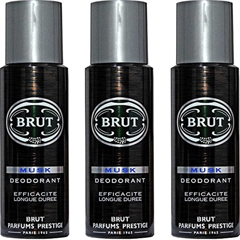 一時的トリム植生BRUT MUSK Deodorant Spray For Men - 200 Ml Pack Of 3