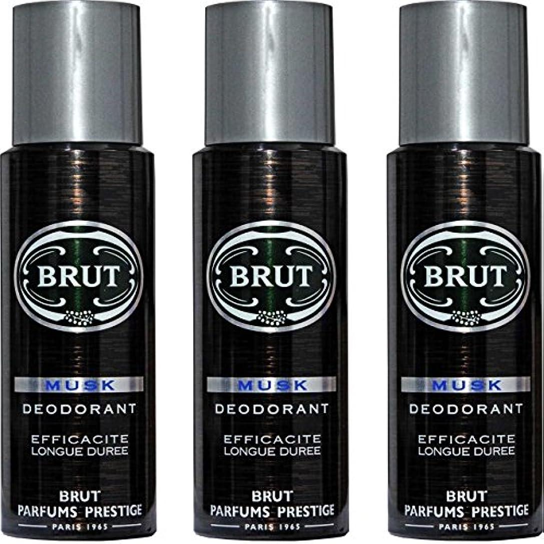 同種の学んだ雇用者BRUT MUSK Deodorant Spray For Men - 200 Ml Pack Of 3