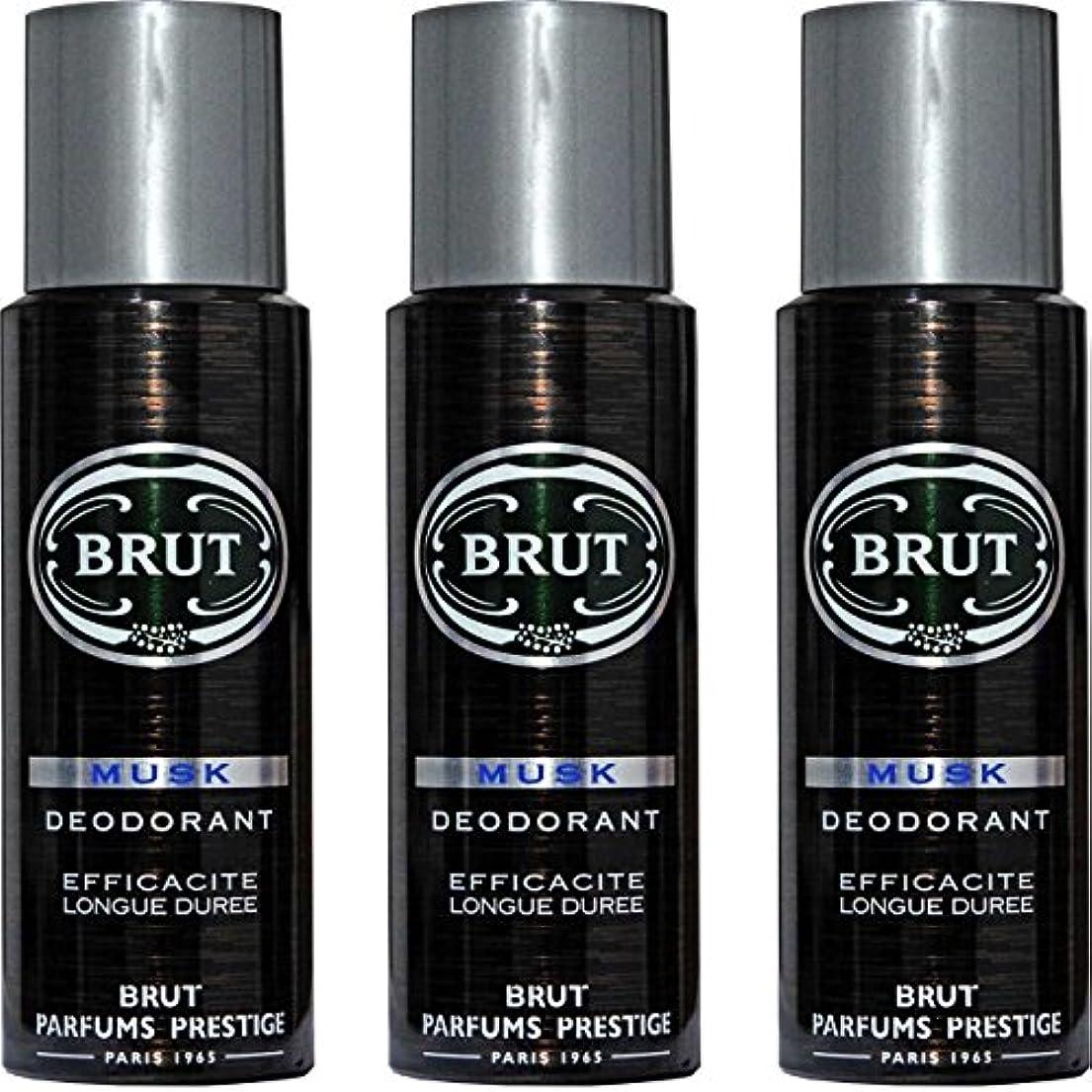 船派生する銅BRUT MUSK Deodorant Spray For Men - 200 Ml Pack Of 3