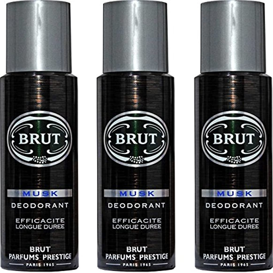 本当に飼いならすキャンセルBRUT MUSK Deodorant Spray For Men - 200 Ml Pack Of 3