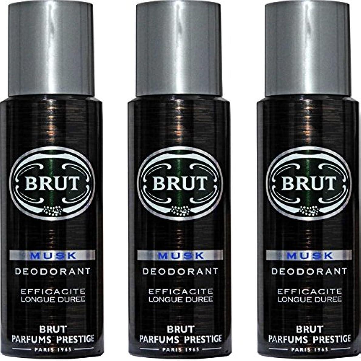 過ち適度な大洪水BRUT MUSK Deodorant Spray For Men - 200 Ml Pack Of 3