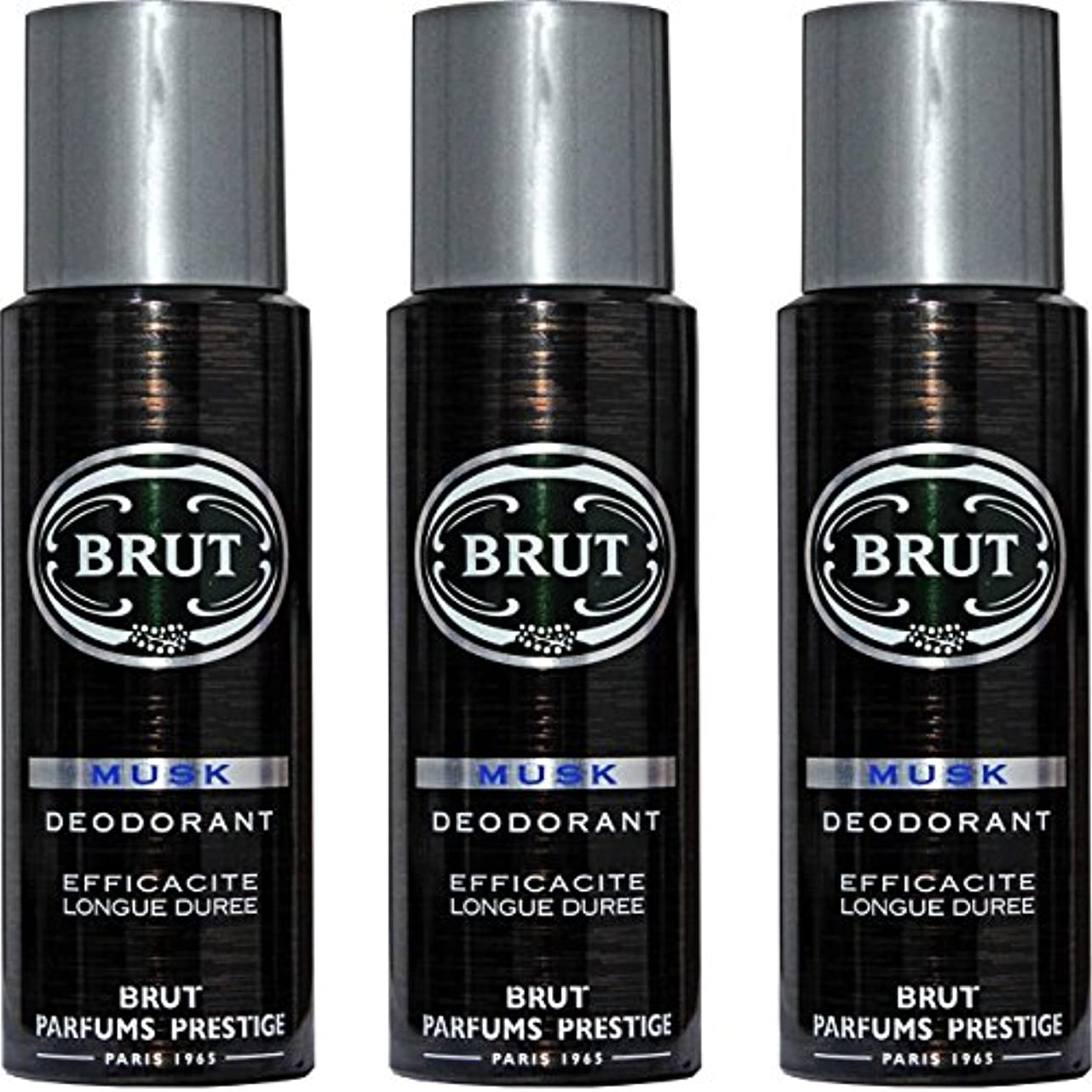 最も遠いテンポエキゾチックBRUT MUSK Deodorant Spray For Men - 200 Ml Pack Of 3