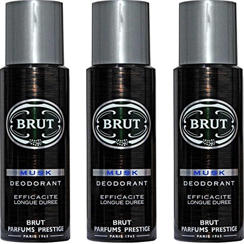 ラケット設置兵器庫BRUT MUSK Deodorant Spray For Men - 200 Ml Pack Of 3