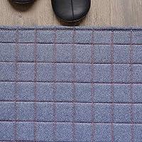 洗える デニム ラグ ラグマット 1畳 90x140cm キルティング レッドステッチ