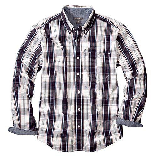 (エディー・バウアー) Eddie Bauer 長袖ジーンコードピケパターンボタンダウンシャツ(スカーレット S)