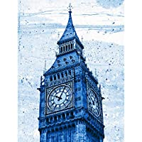 Painting Drawing Landmark London Big Ben Clock Canvas Print