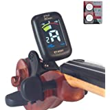 eno Professional Violin Viola Tuner Colorful Lcd Display Easy Control Clip On Accurate Violin Tuner ET-05SV