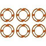 6個セット シェーバーヘッドフレームホルダーカバー ブレードフレーム ブレード保持リング Philips Norelco 7000 9000 RQ12シリーズに対応用 シェーバー用消耗品 アクセサリ 交換部品 オレンジ