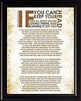 "Rudyard Kipling詩"" If "" | Motivational Poster、印刷、画像またはFramed壁アート装飾–インスピレーション詩コレクション–休日クリスマスギフト 8x10 Framed"