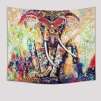 ファッションパーソナリティ印刷ホームタペストリー壁毛布動物象水彩画 (Style : 2)