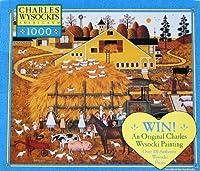 チャールズWysocki 's Americana 1000pc。puzzle-farm Folks