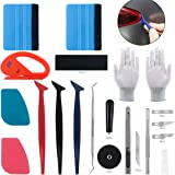 Keadic 47Pcs Car Vinyl Wrap Tool Kits, Felt Squeegees with Spare Fabric Felts, Vinyl Graphic Magnet Holders, Gloves, Zippy Vi