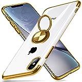 iPhone XS 用 ケース クリア リング シリコン スリム 透明 TPU 耐衝撃 車載ホルダー対応 軽量 薄型 擦り傷防止 落下防止 オシャレ ストラップホール付き iPhone X カバー