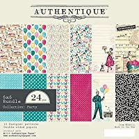 Authentique Double-Sided Cardstock Pad 15cm x 15cm 24/Pkg