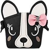 Little Girl Purses,Cute Puppy Shoulder Crossbody Bag with a Bowknot, Gifts for Little Girls (Black)