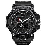 SMAEL Military Watch - Fashion Men's Sports Analog Quartz Watch Dual Display Waterproof Digital Watches LED Backlight...