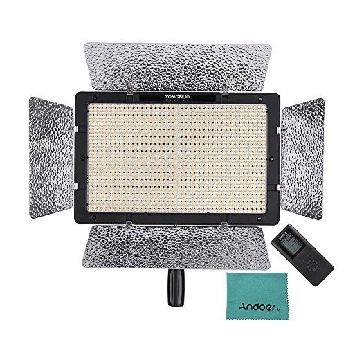 [해외]YONGNUO YN1200 LED 비디오 라이트 3200K~5500K 밝기 조절 CRI ? 95 사진 &  비디오 녹화 필 라이트지지 App 제어 리모콘 &  Andoer 크리 닝 크로스 포함 스튜디오 조명/YONGNUO YN 1200 LED video light 3200 K to 5500 K luminance adjustable CRI...