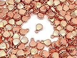 【ピンクゴールド通販広場】2枚貝 海 チャーム ピンクゴールド 5個