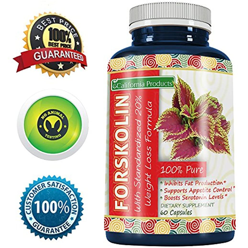 命題染色山岳100% Pure Forskolin Extract 60 Capsules