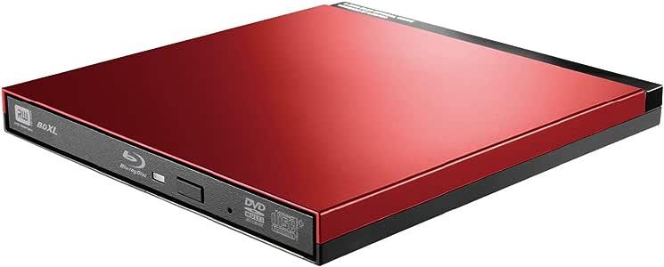 ロジテック Blu-ray ブルーレイ 外付けドライブ USB3.0 UHD BD対応 書込ソフトCyberLink Power2Go 8付 レッド LBD-PUD6U3LRD