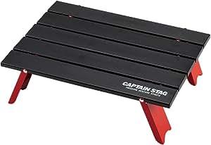 キャプテンスタッグ(CAPTAIN STAG) キャンプ バーベキュー用 机 アルミ ロール テーブル コンパクト ブラックUC-520